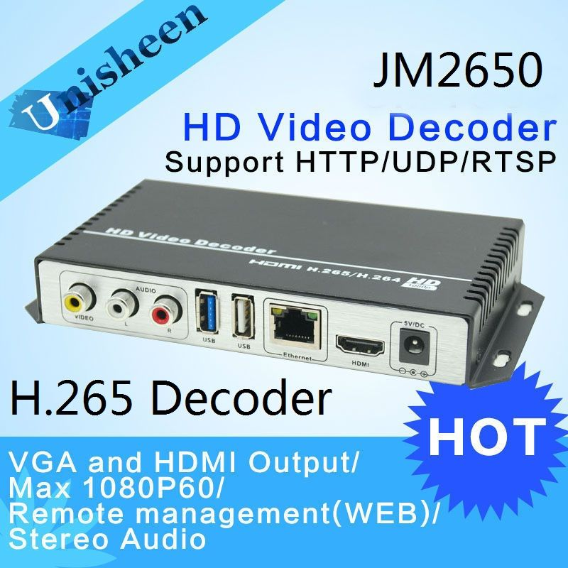 H 265 H 264 Decoder Replace VGA&HDMI output repleace topbox