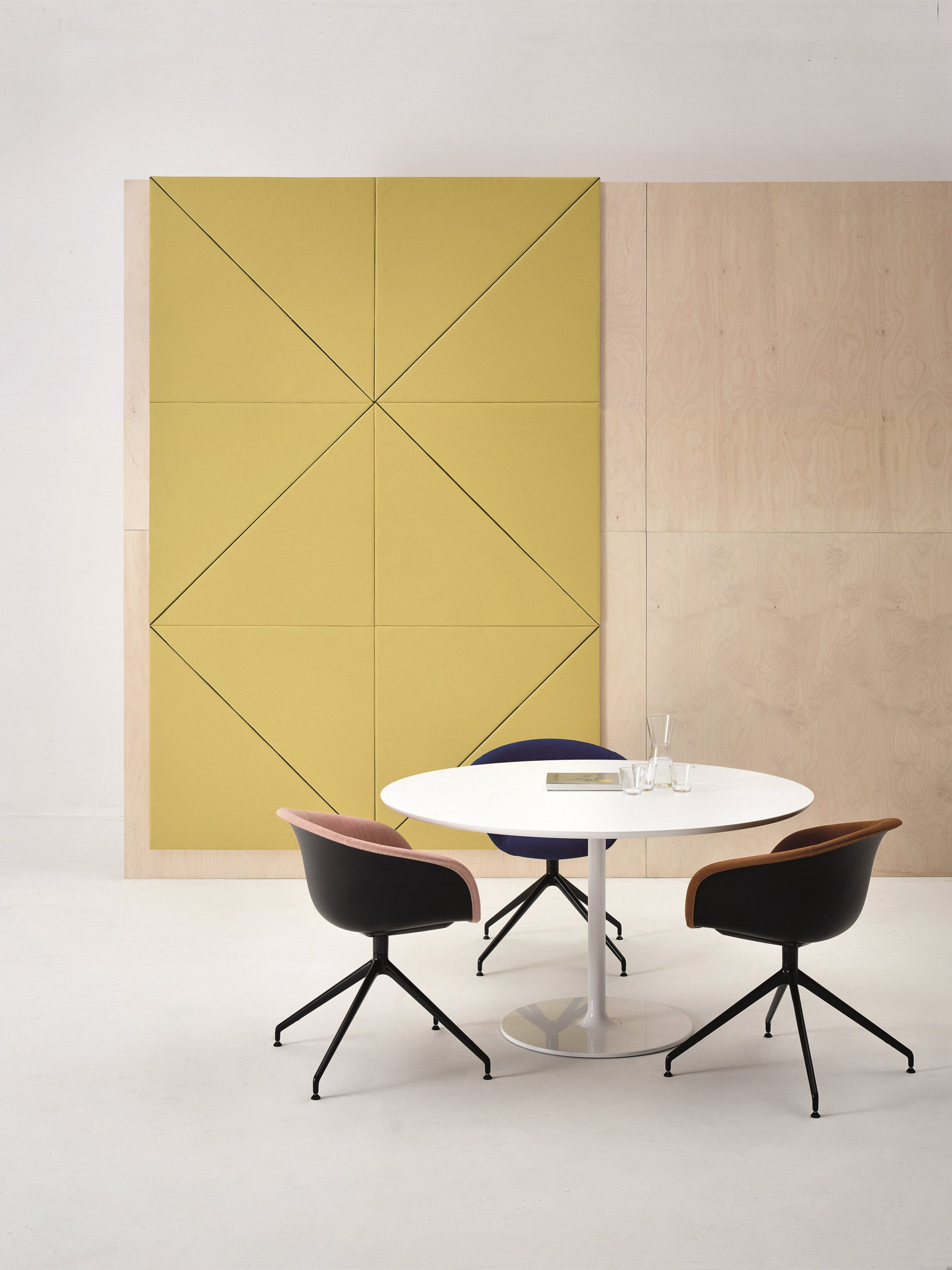 Decorative acoustical panels PARENTESIT by Arper | design Lievore ...