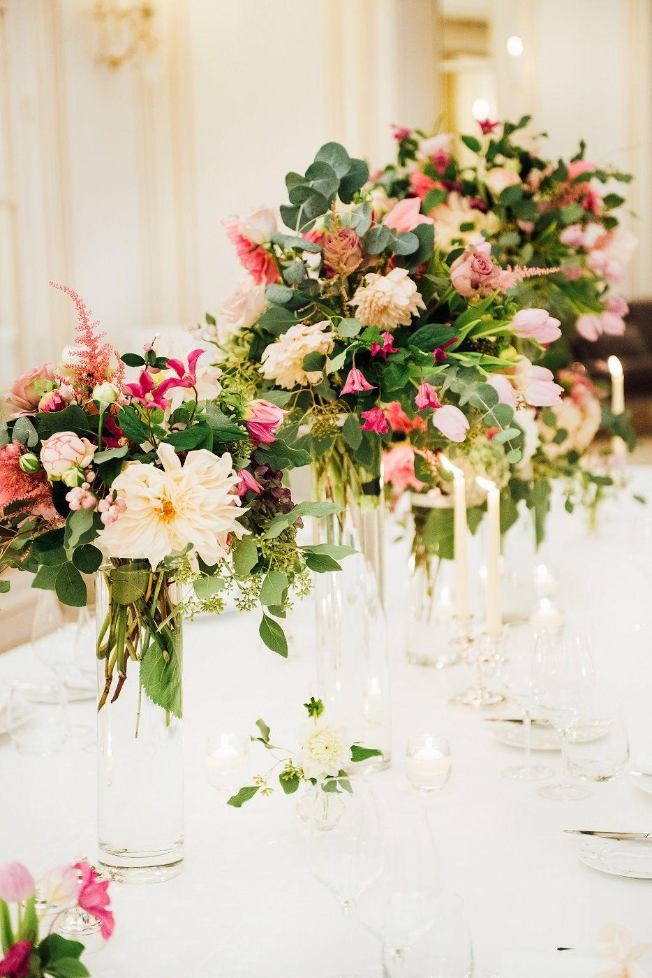 Jolis hortensias pour cocktail | Déco mariage bleu, Table