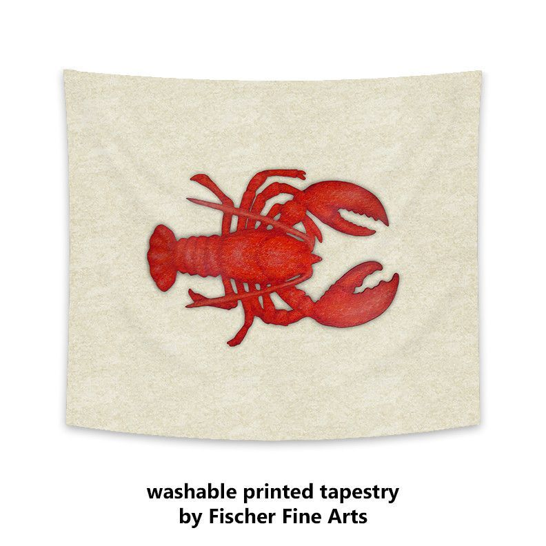 Nautical Lobster Tapestry