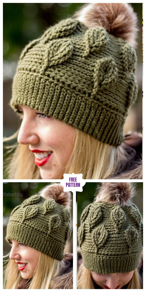Crochet Autumn Leaf Beanie Headband Set Free Crochet Patterns