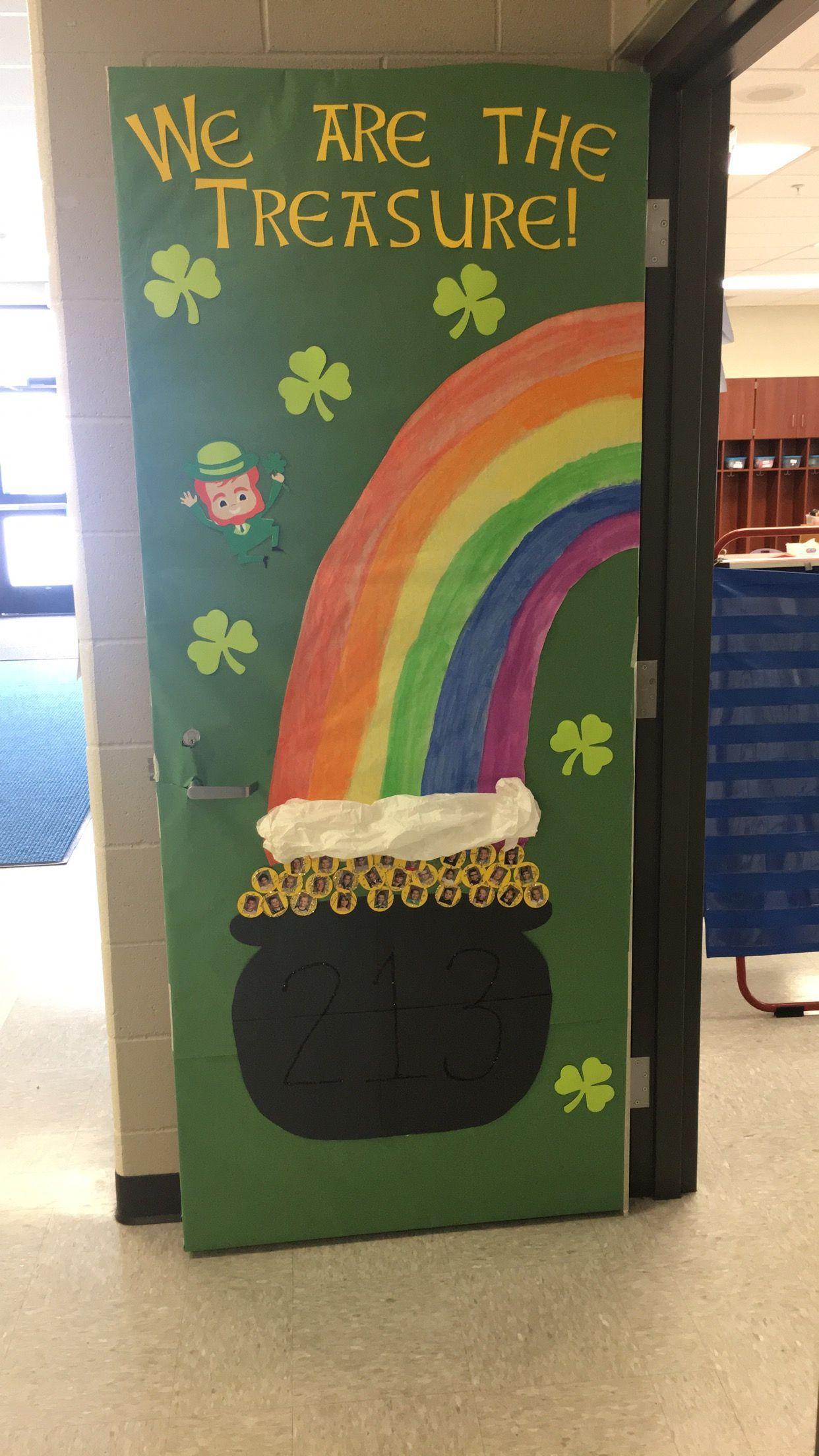 St Patrick S Day Door Decoration School Stuff Door Decorations