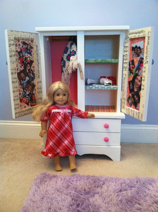 Beau DIY American Girl Armoire