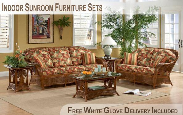 Indoor Rattan Sunroom Furniture