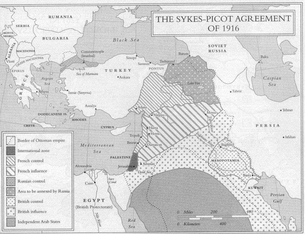 Sykes Picot Agreement After World War One Britain And France Re Drew The Maps Of The Middle East In W World History Lessons History Lesson Plans Middle East