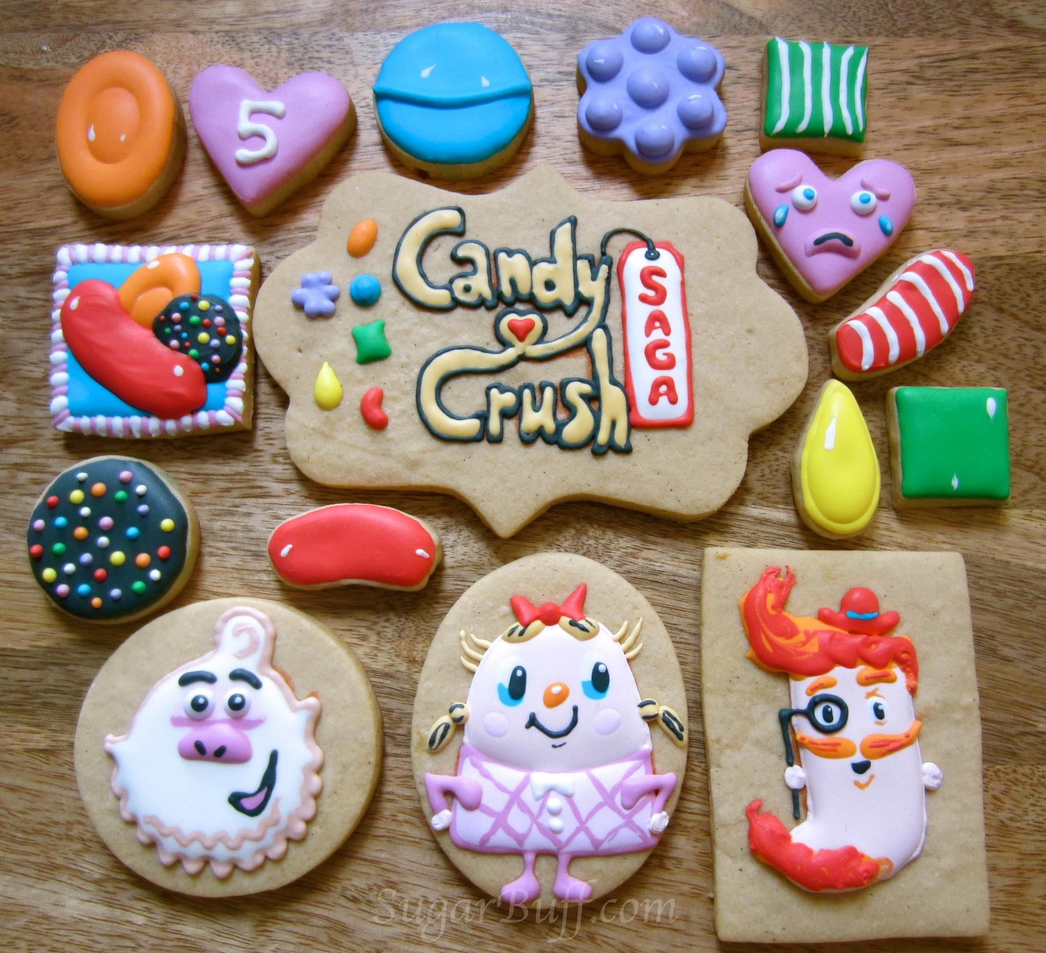 1000 images about Cupcakes en taarten on Pinterest Candy crush. Candy Crush Saga Cookies by SugarBridget pinned by TheCookieCutterCompany www