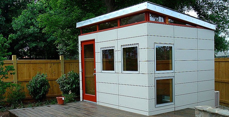 10 x 12 open joint siding modern shed seattle Buildings and