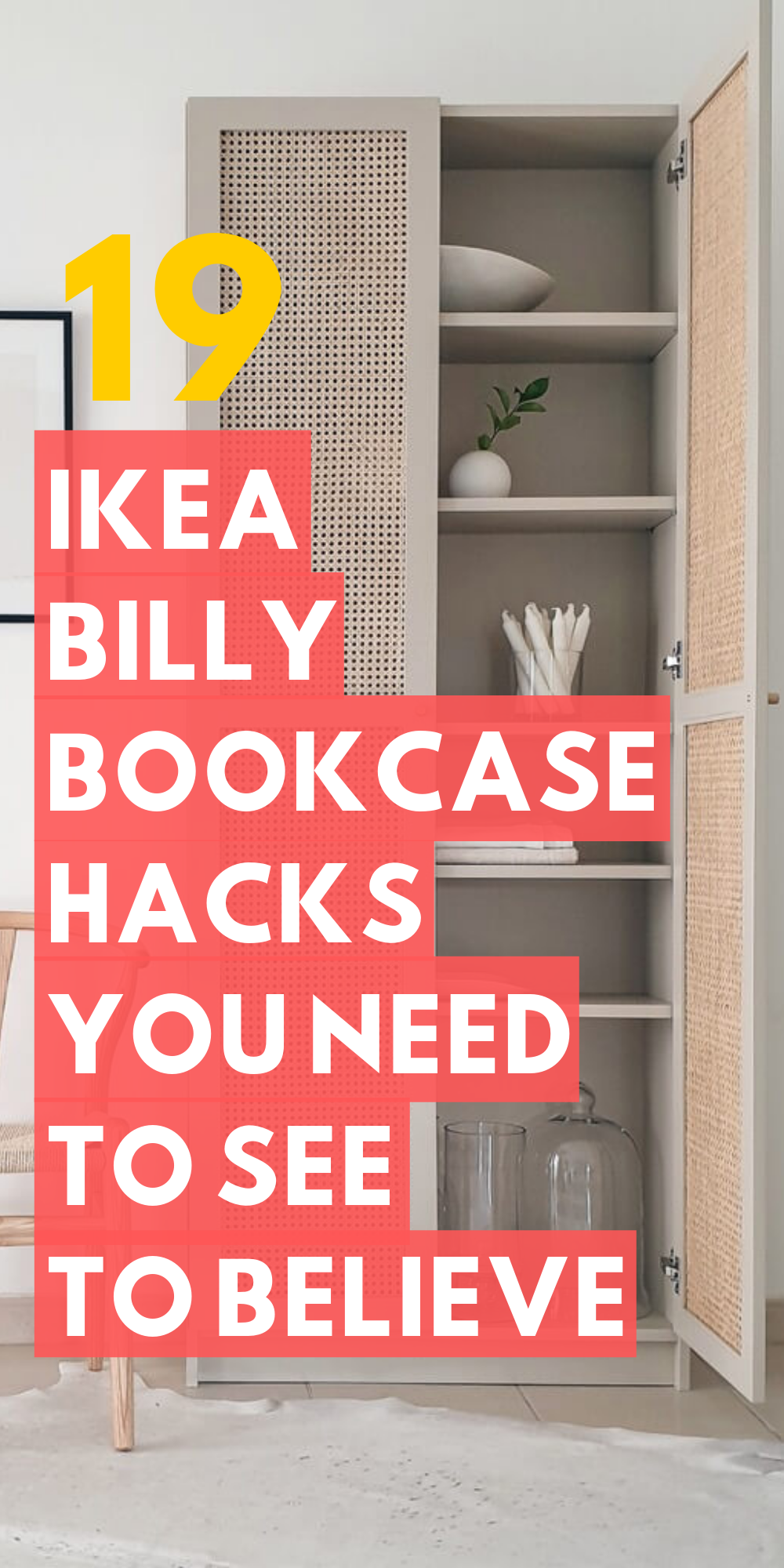19 Ikea Billy Bookcase Hacks that are Bold and Beautiful #kitchentips