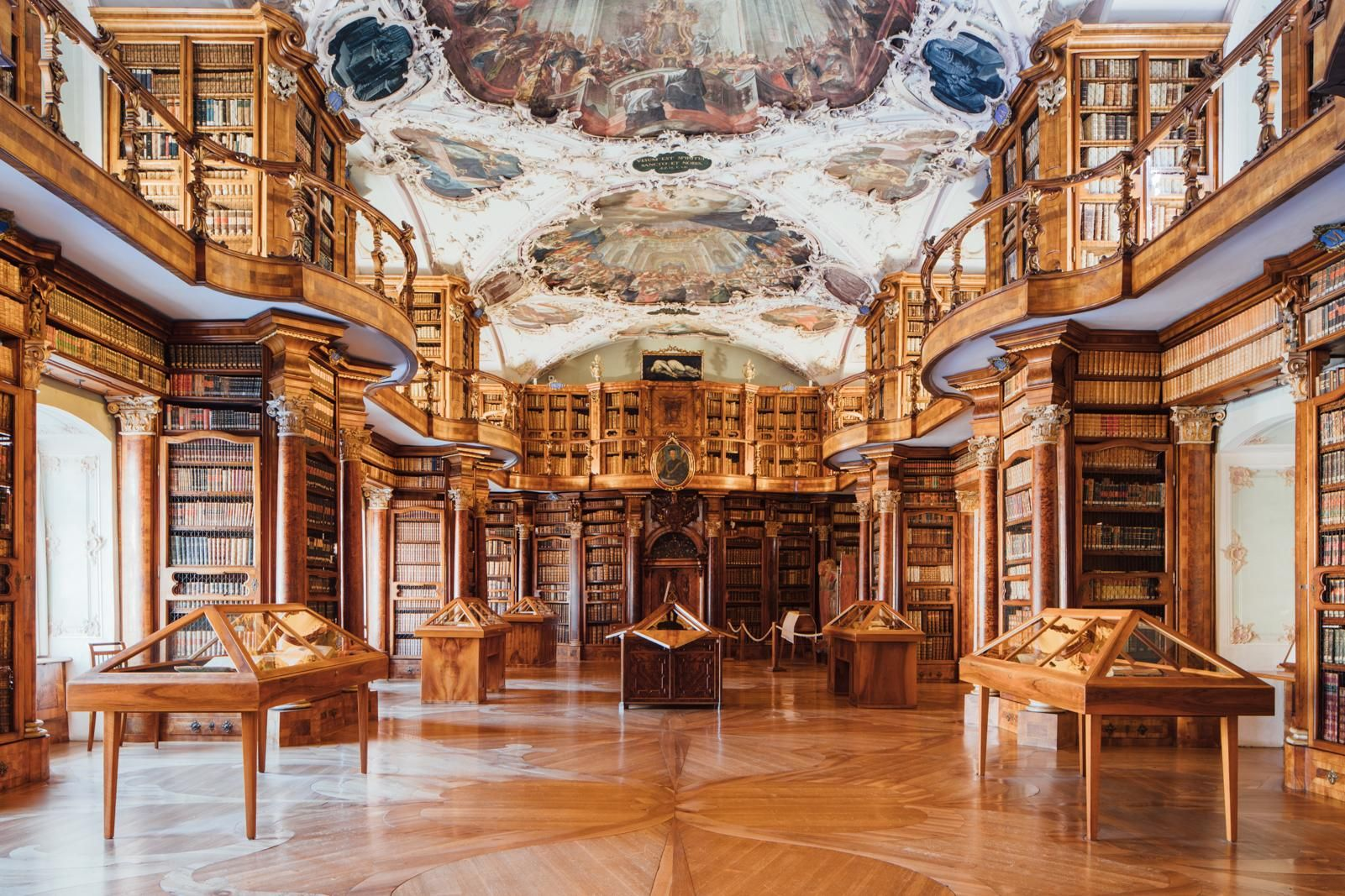 Abbey library of Saint Gall St Gallen Switzerland [1601x1067][OC ...