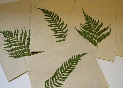 homework: creative inspiration for home and life: Inkling: pressed leaves