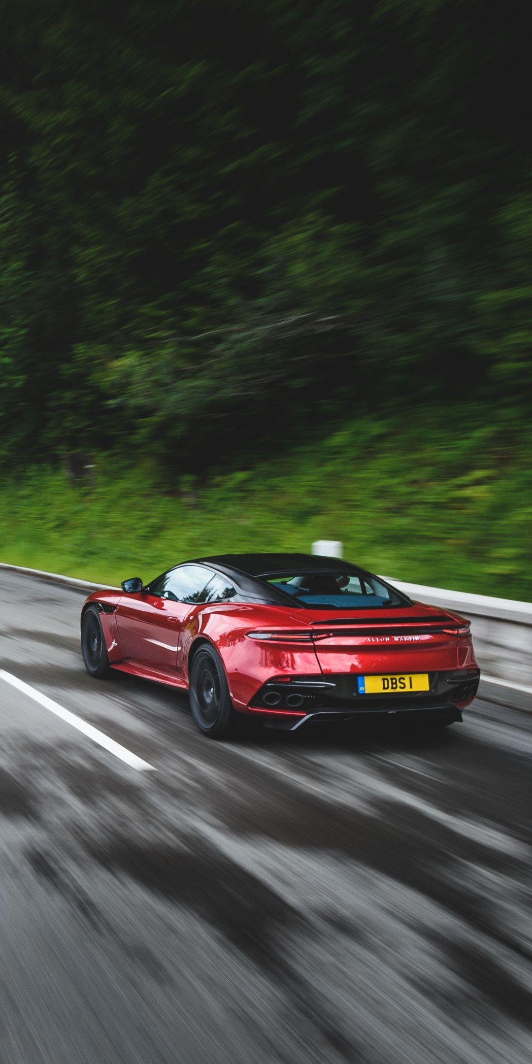 Rear View Aston Martin Dbs Superleggera On Road 1080x2160 Wallpaper Aston Martin Dbs Aston Martin Dbs Superleggera Aston Martin Cars