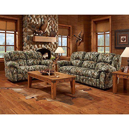 Cambridge Camo 3 Piece Set Sofa Loveseat Recliner Living Room