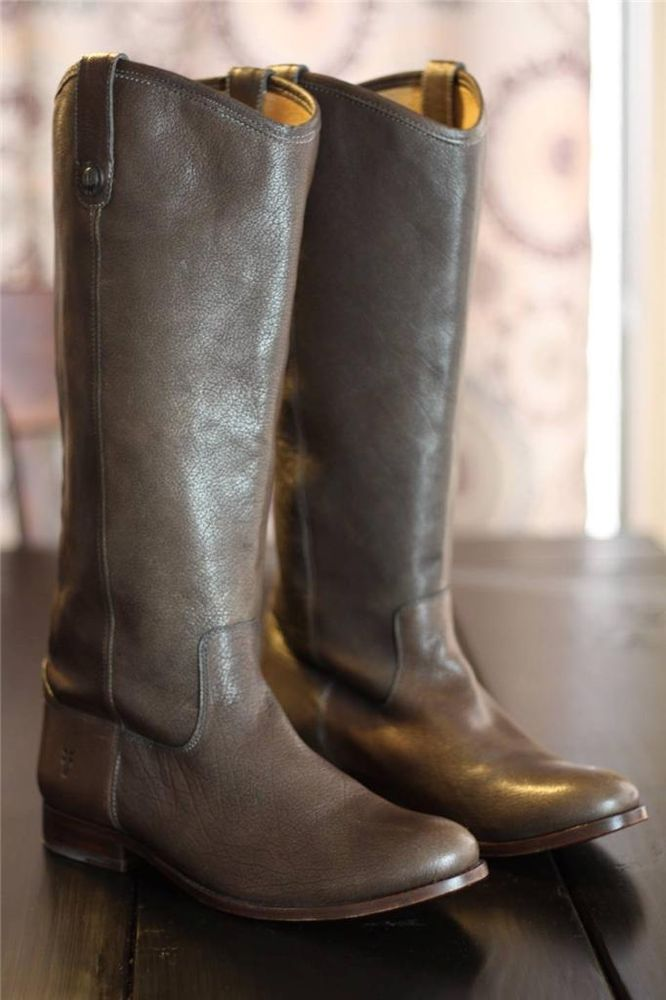 c033ecba2680c Frye Melissa Button Tall Riding Boots 77165 Antique Gray Leather Equestrian  10 #Frye #RidingEquestrian