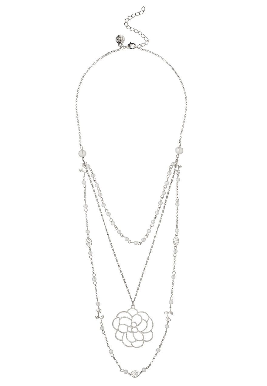 Faux Pearl And Camellia Flower Necklace Maurices Com Faux Pearl Flower Necklace Necklace