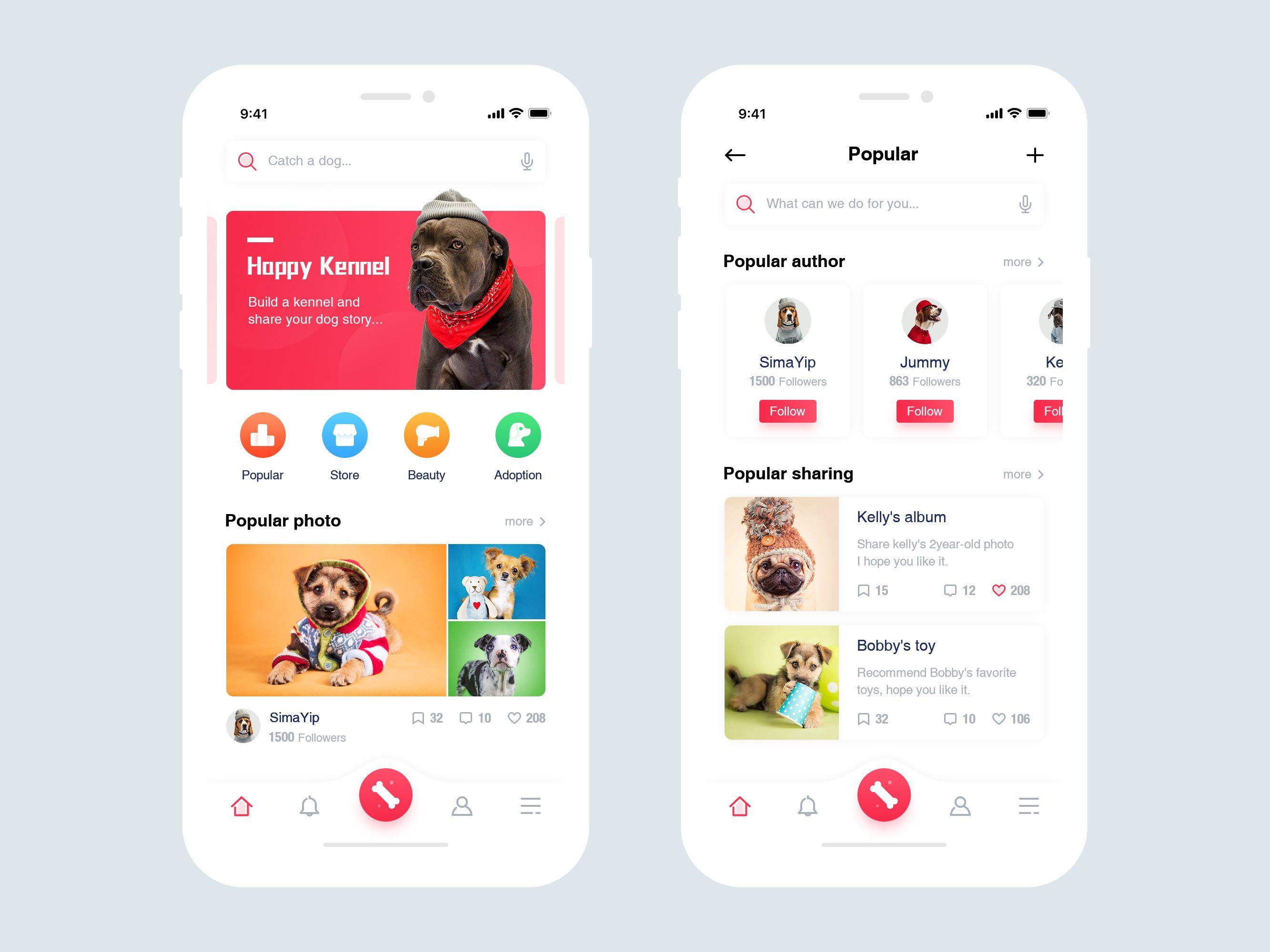 Happy Kennel Mobile Application App Design Layout Mobile Application App
