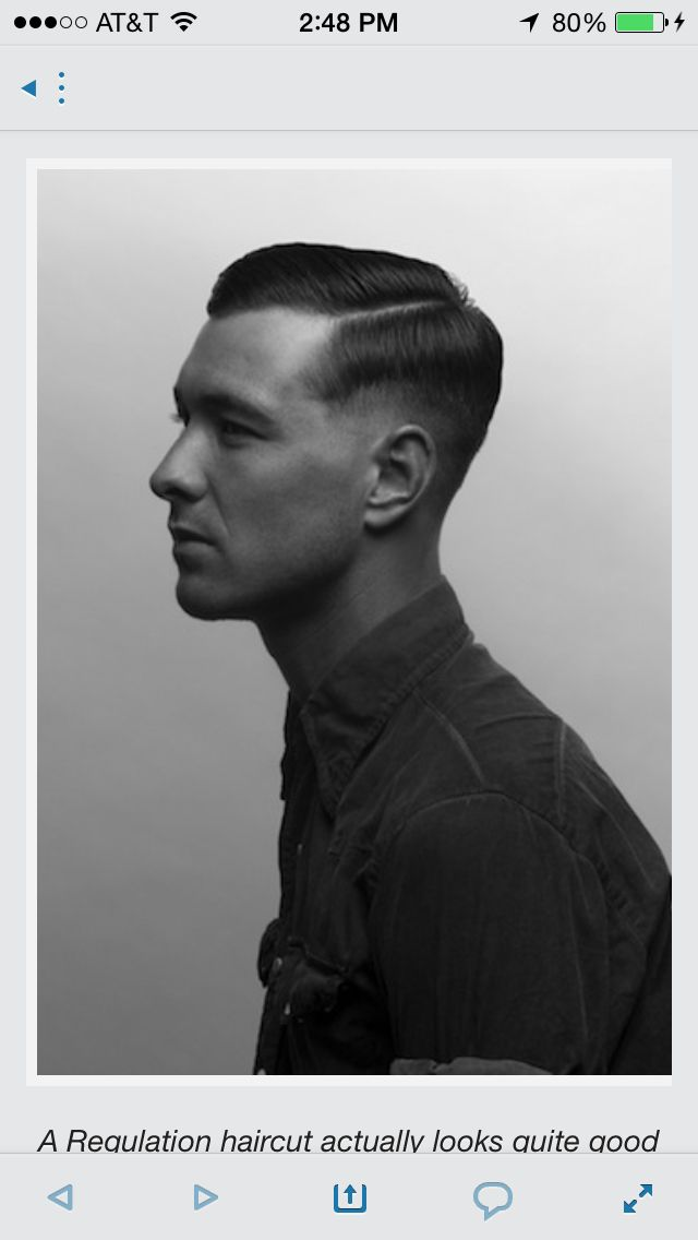 Old School Military Cut With The Hard Part Haircuts Pinterest