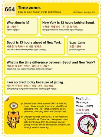 Easy To Learn Korean 664 Time Zones Korea Standard Time Kst
