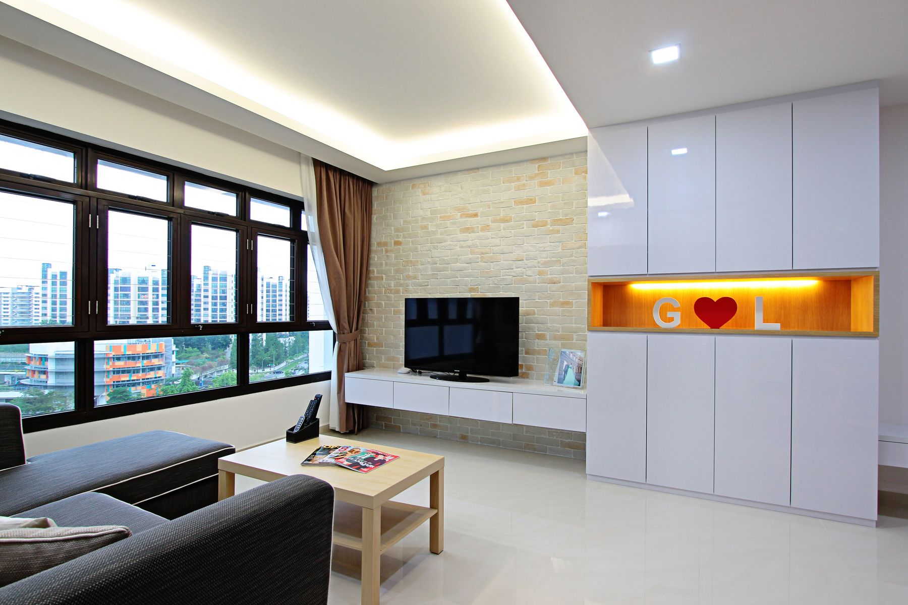 Hdb 4Room Standard Flat 92Sqmsimple Neat Design With Smoothing Fair Hdb 4 Room Living Room Design Design Inspiration