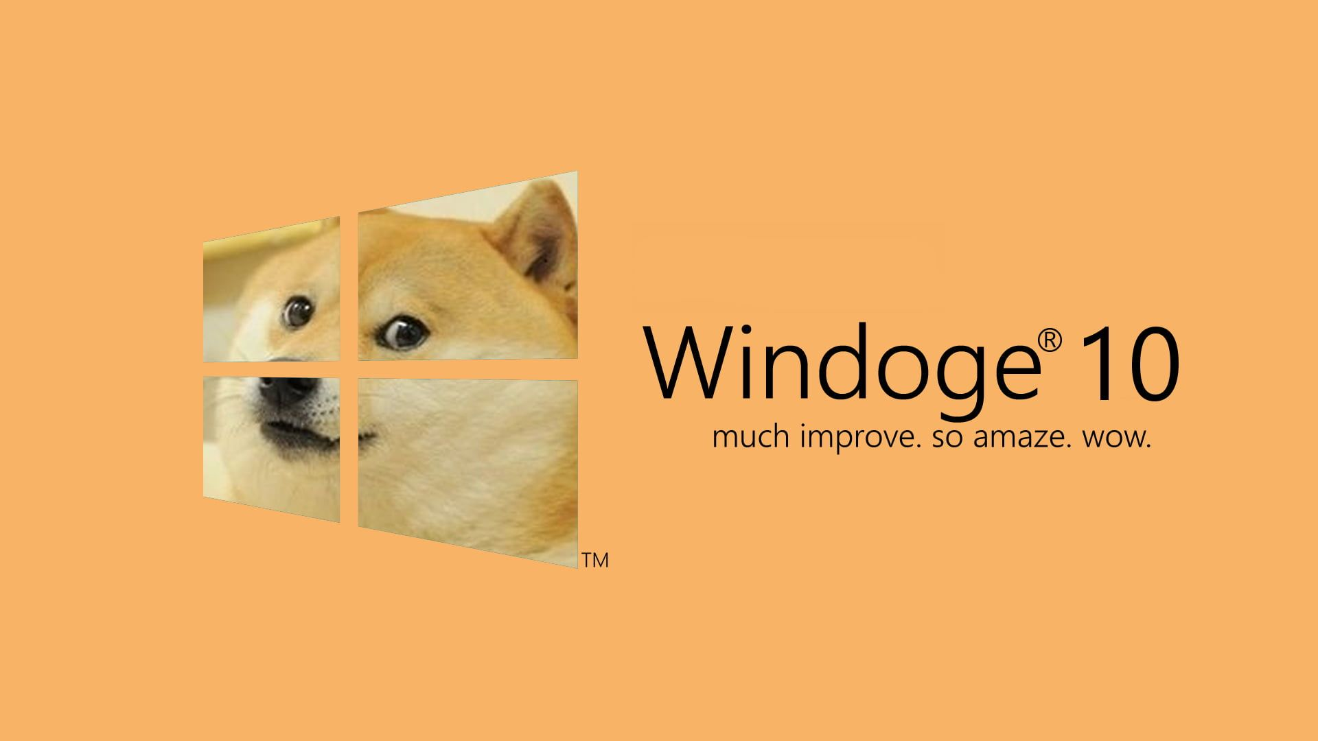 Windoge 10 Logo Microsoft Windows Windows 10 Memes Text Colored Background Doge Meme Very Funny Memes Funny Doge
