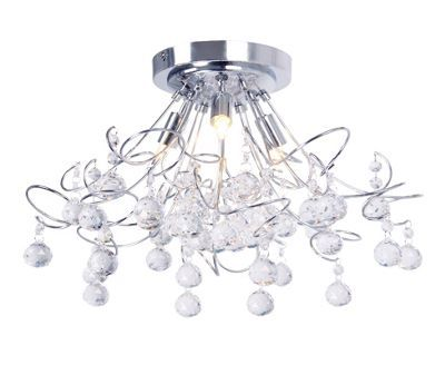 Home collection mary crystal glass flush ceiling light debenhams