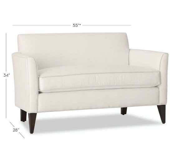 Marcel Upholstered Mini Sofa. To replace unused table and make ...