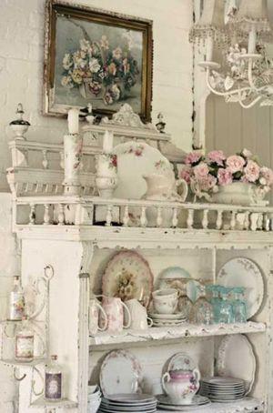 صور اثاث منزلي أفكار رومانسية دافئة في ديكورات المطبخ Shabby Chic Porch Shabby Chic Cottage Shabby Chic Pillows