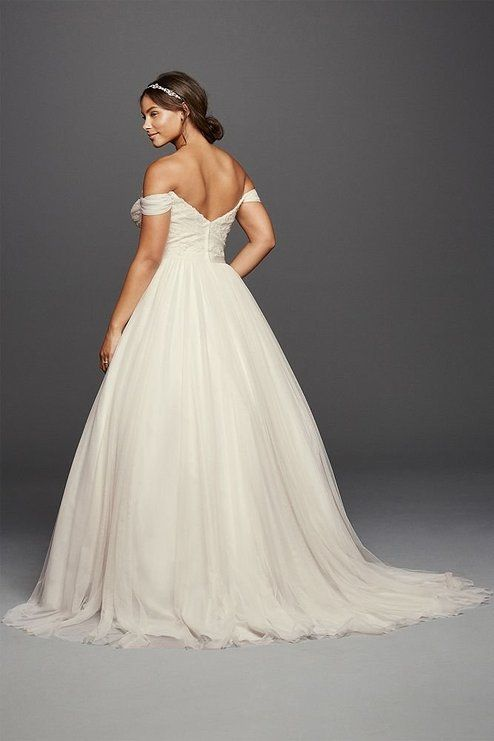 Tulle Beaded Lace Sweetheart Plus Size Wedding Dress Style ...