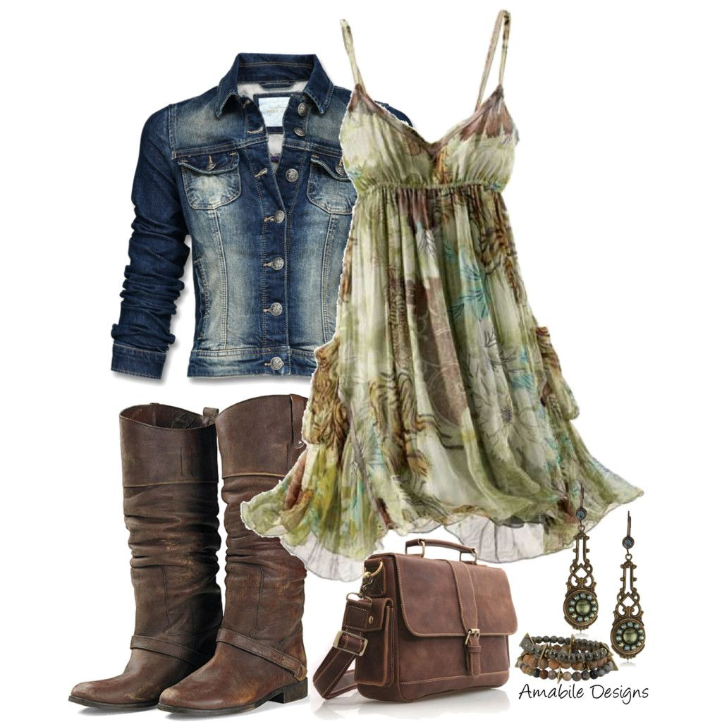 Not So Much The Boots But I Do Like The Dress Accessories Pinterest Country Girls