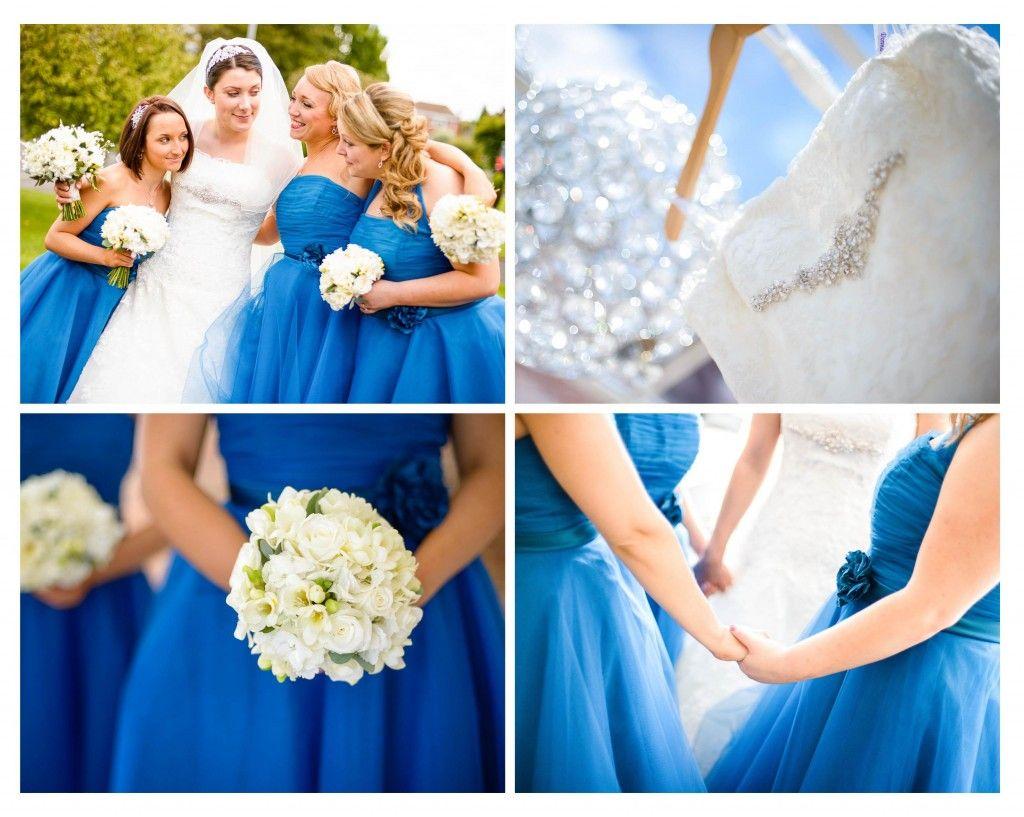 Something blue gorgeous blue bridesmaids dresses at mythe barn