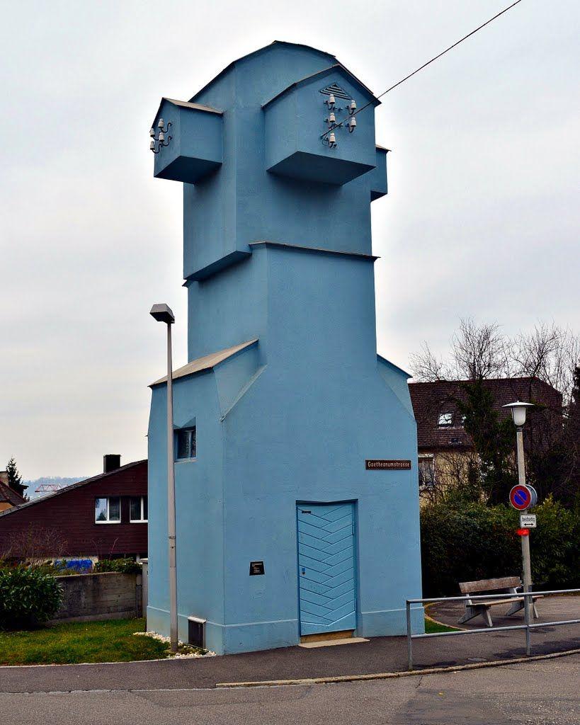 Rudolf Steiner Architektur dornacher anthroposophen kolonie transformatorenhaus 1921