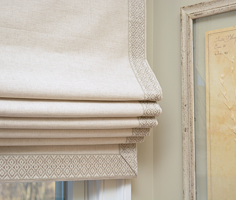 Malbec Fabric with Chatham Trimming romanshades customromanshades
