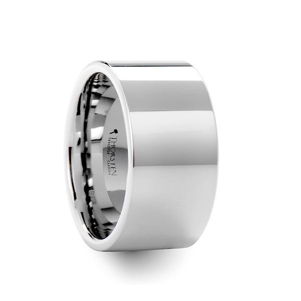 Men S Wedding Ring White Tungsten 12mm Tcrings White Tungsten Ring Tungsten Wedding Bands White Tungsten