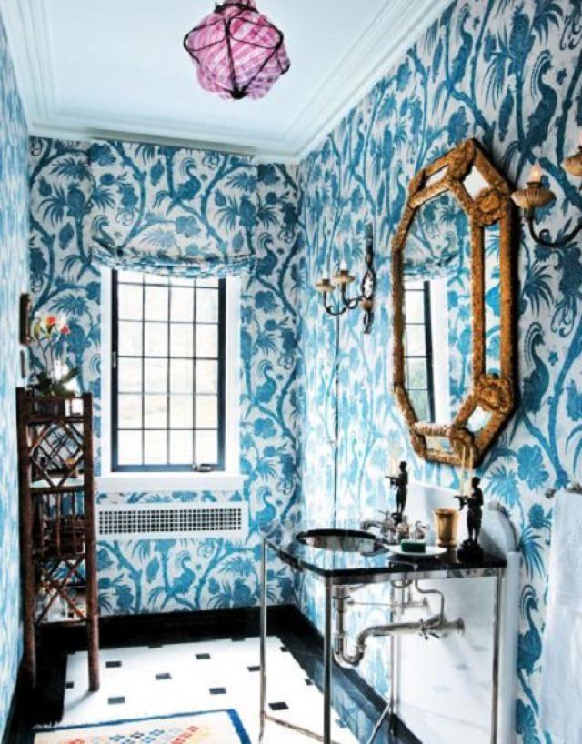 Glamorous Bathrooms With Wallpaper Beautiful Bathrooms Glamorous Bathroom Powder Room Design