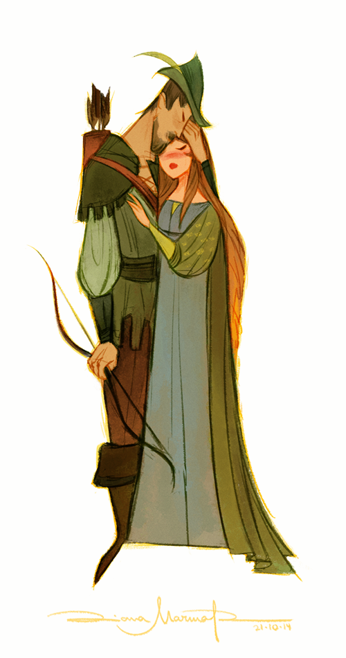 Robin Hood And Lady Marian By Dianamarble On Deviantart Illustration Character Design Character Design Art