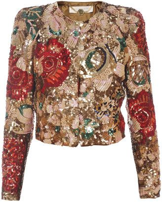ShopStyle  Stella Mccartney Sequin embroidered jacket   Embroidered ... 71818b6aeb