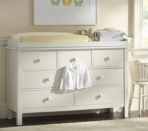 pottery barn kids kendall extrawide dresser u0026 changing table topper in simply white - Changing Table Topper