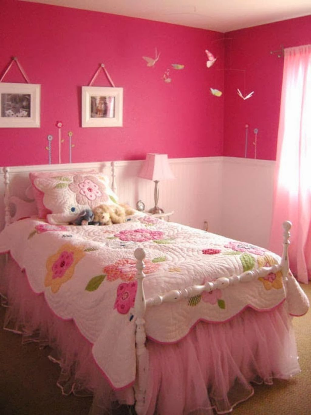 Pink bedroom paint ideas - Fascinating Girls Bedroom Ideas For Two Of Minimalist