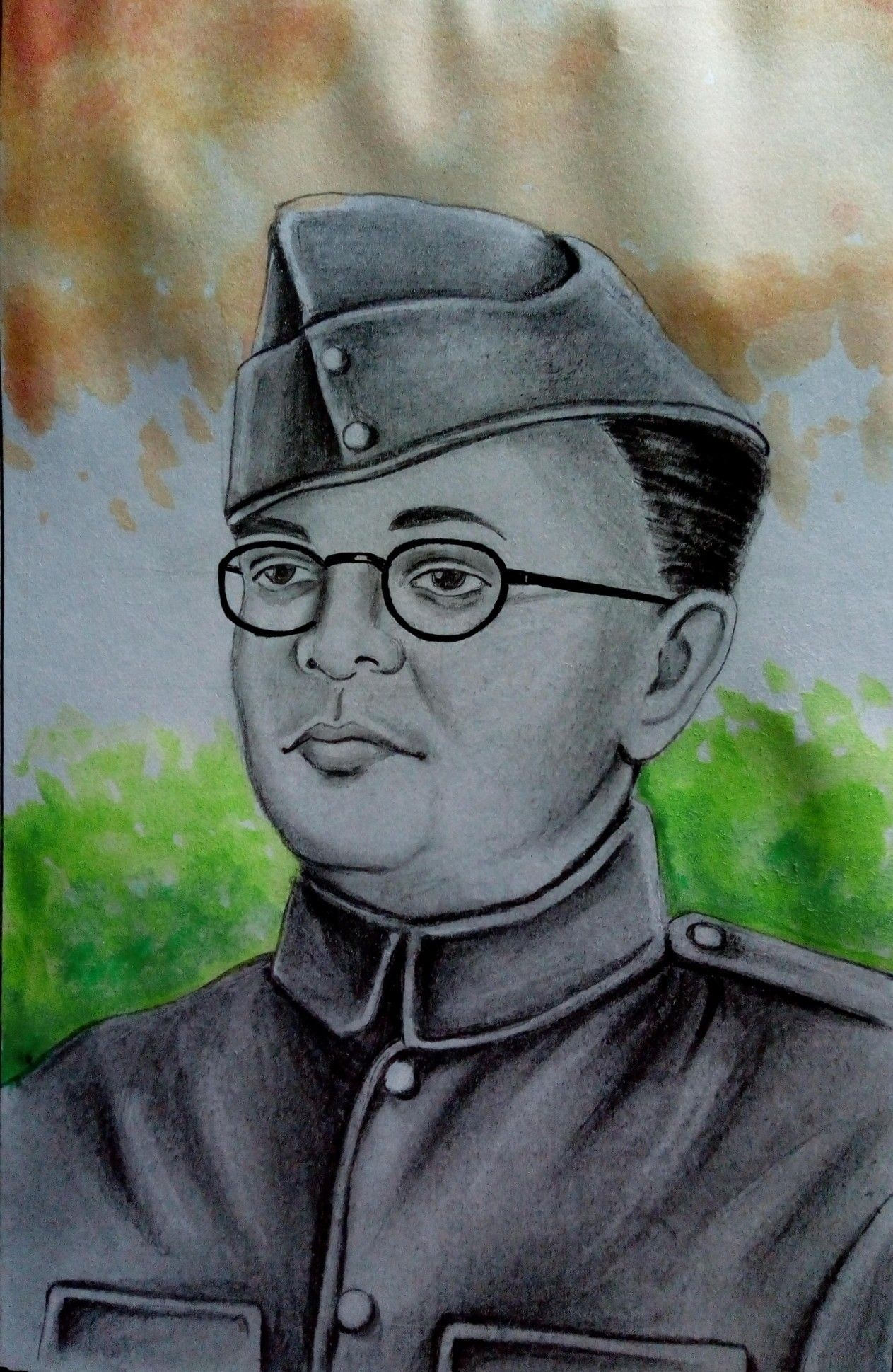 Subhash chandra bose sumit sketch art in 2019 pencil drawings
