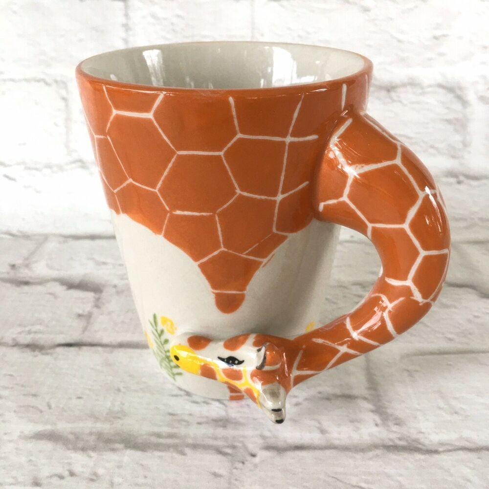 Giraffe Necks 16oz Mug Tumbler Cup with Pink Lid