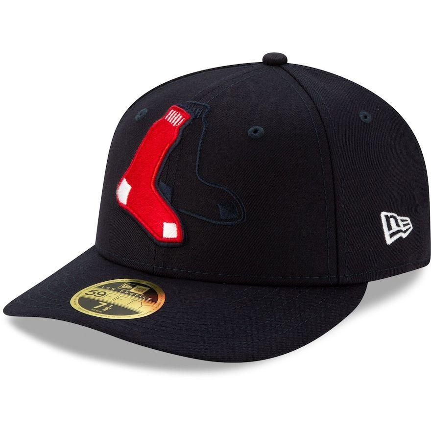 Men's New Era Navy Boston Red Sox Logo Elements Low