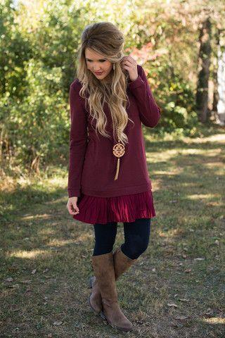 Deep Southern Roots Tunic/Dress - Burgundy