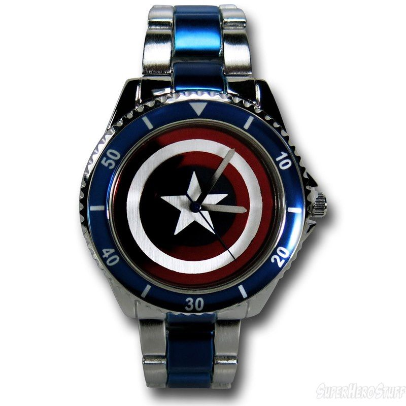 Images of Captain America Shield Stainless Steel Watch
