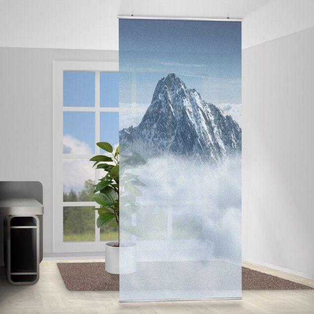 Raumteiler - Die Alpen über den Wolken 250x120cm | Raumteiler ...