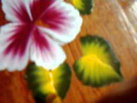 One stroke flowers - YouTube