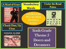 Cloze Worksheets Houghton Mifflin Harcourt 6th Grade Theme 5