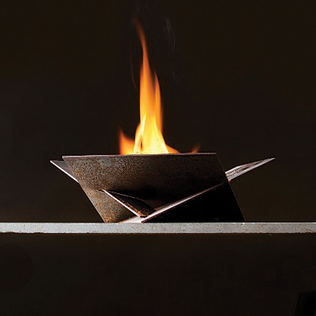 Corten Steel Origami Fire Pit 38 In Fire Pit Fire Pit Art Cool Fire Pits
