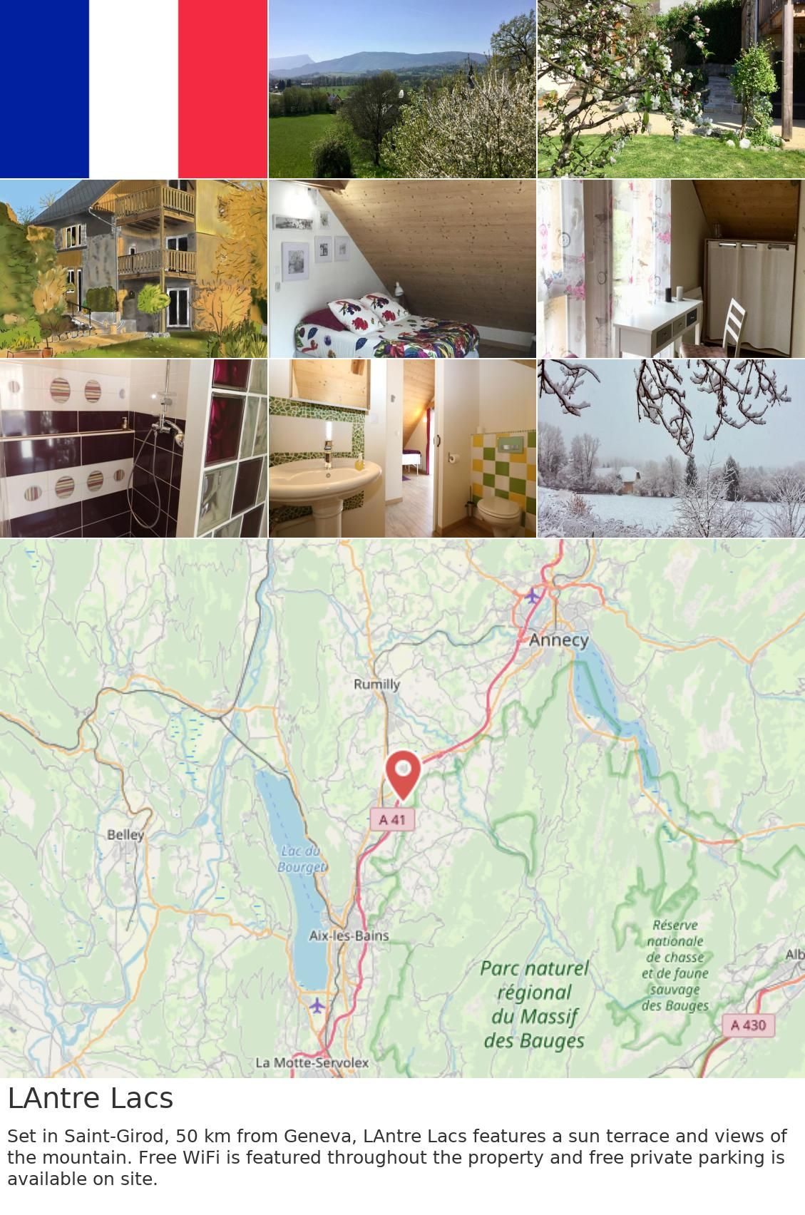 Europe France Saint Girod Lantre Lacs Set In Saint Girod 50 Km From Geneva L Antre Lacs Features A Sun Terrace And Views Of The Mountain Free Wifi Is Fea