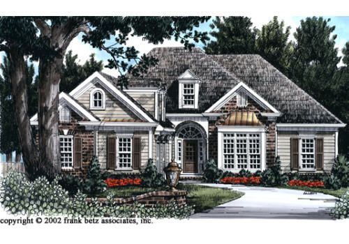 Unique Artistic Details Are Used On The Facade Of The Brookhollow Giving It An Alluring Cottage Fee Country Style House Plans Cottage House Plans Cottage Homes