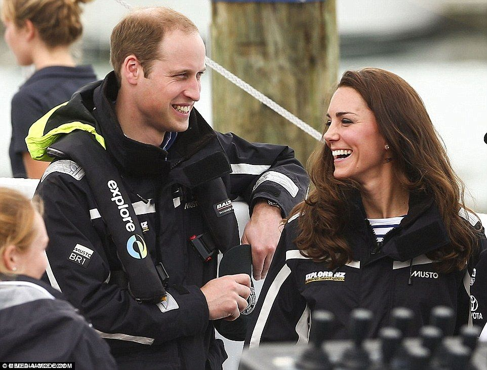 No hard feelings: It was Kate who proved victorious, winning not one but two races against her husband Prince William during a visit to Auckland in April 2014