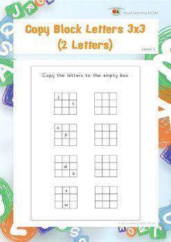 copy block letters 3x3 2 letters spatial skills worksheets persepsie worksheets block. Black Bedroom Furniture Sets. Home Design Ideas